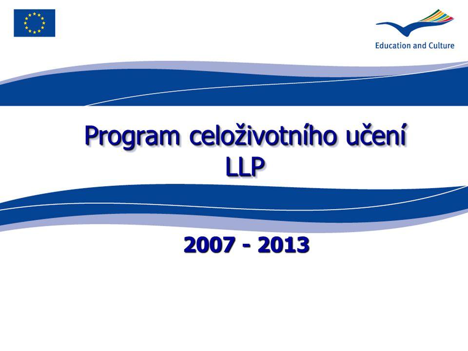 4 Program celoživotního učení Comenius vzdělávání ve školách Erasmus vysokoškolské vzdělávání Leonardo da Vinci odborné vzdělávání a příprava Grundtvig vzdělávání dospělých a celoživotní učení Průřezový program 4 klíčové aktivity – vývoj politiky; jazykové vzdělávání; informační a komunikační technologie; diseminace Program Jean Monnet 3 klíčové aktivity – Jean Monnet aktivity; Specifické evropské instituce; Ostatní evropské instituce/asociace