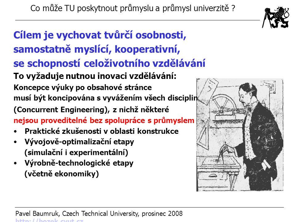Co může TU poskytnout průmyslu a průmysl univerzitě .