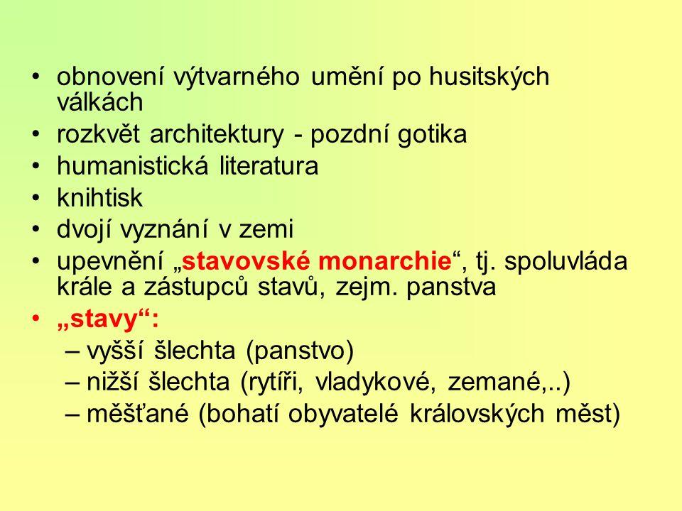 Česko- uherské soustátí dvojvládí: Vladislav a Matyáš Korvín 1478 - kompromis: Vladislav - Čechy Matyáš - Uhry, Morava, Slezsko, Lužice navzájem se ur