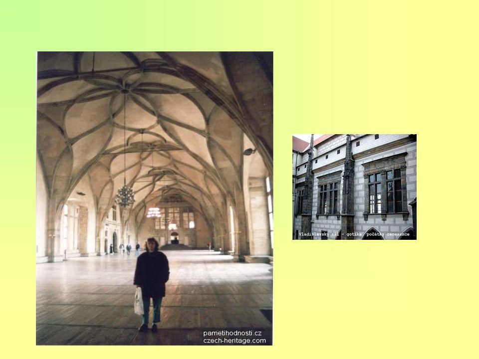 """obnovení výtvarného umění po husitských válkách rozkvět architektury - pozdní gotika humanistická literatura knihtisk dvojí vyznání v zemi upevnění """"s"""