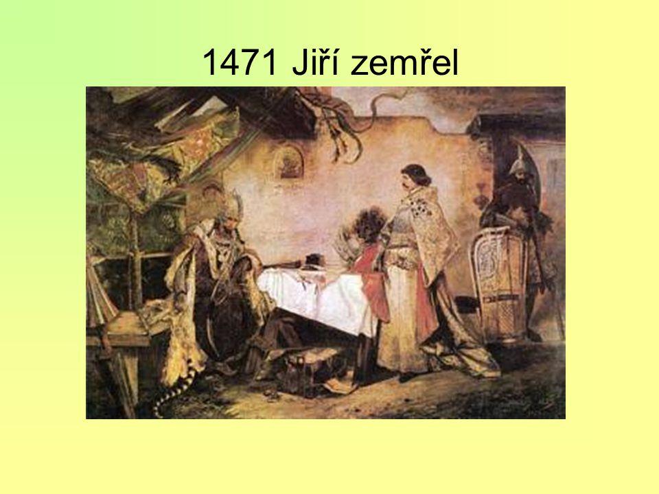 1465 papež krále exkomunikoval jako kacíře = zbavil jeho poddané poslušnosti a vyzval kohokoliv ke křížové výpravě proti kacířským Čechům uposlechl je