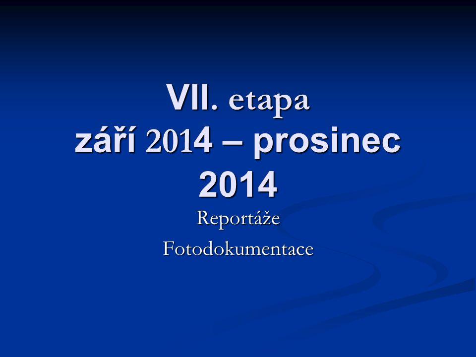 VII. etapa září 201 4 – prosinec 2014 ReportážeFotodokumentace