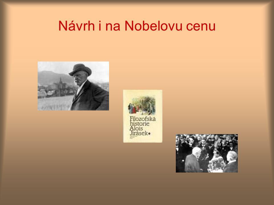 Návrh i na Nobelovu cenu