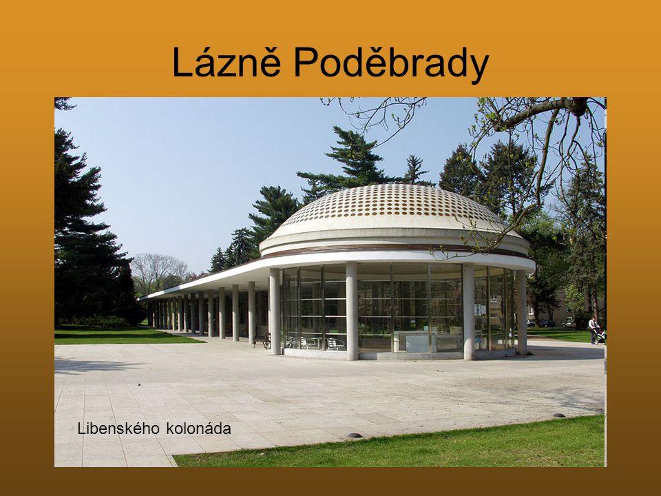 Lázně Poděbrady Libenského kolonáda