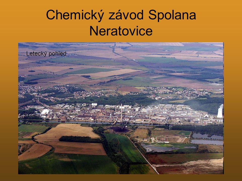 Chemický závod Spolana Neratovice Letecký pohled