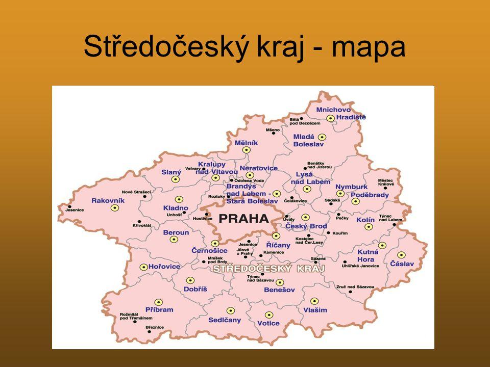Středočeský kraj - mapa