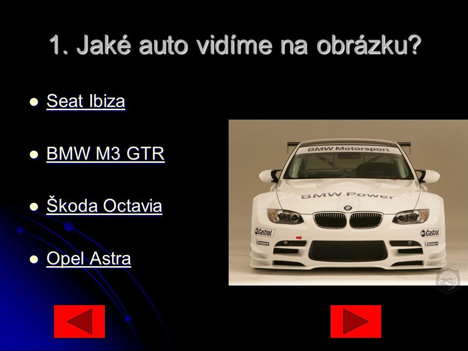 1.Jaké auto vidíme na obrázku.