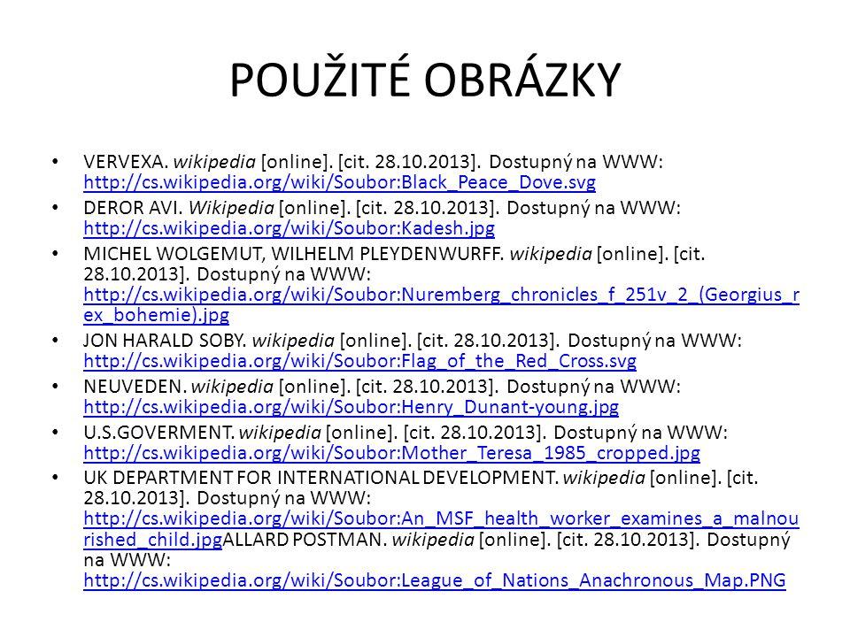 POUŽITÉ OBRÁZKY VERVEXA. wikipedia [online]. [cit.