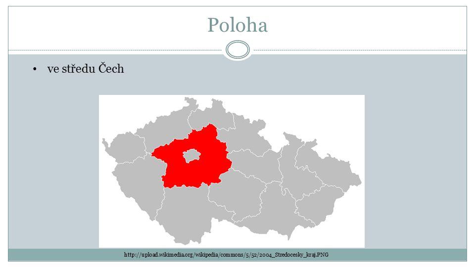 Poloha http://upload.wikimedia.org/wikipedia/commons/5/52/2004_Stredocesky_kraj.PNG ve středu Čech
