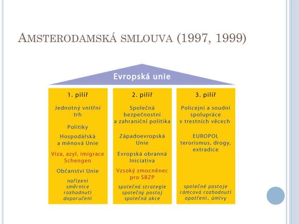 A MSTERODAMSKÁ SMLOUVA (1997, 1999)