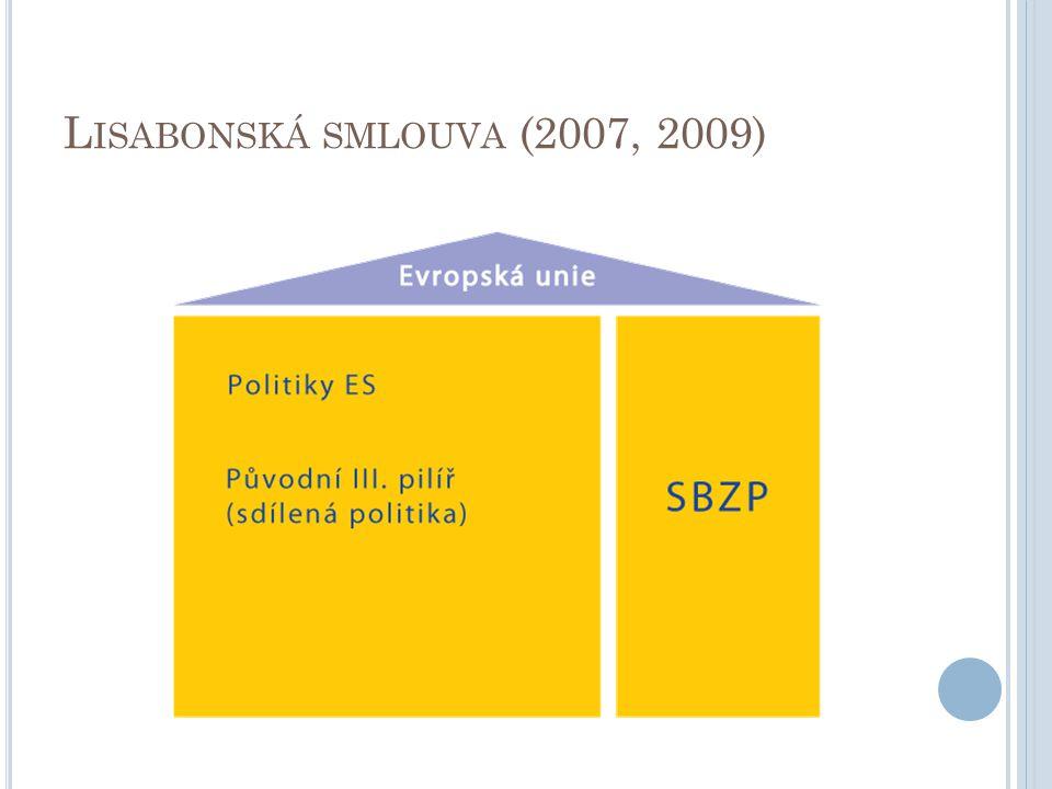 L ISABONSKÁ SMLOUVA (2007, 2009)
