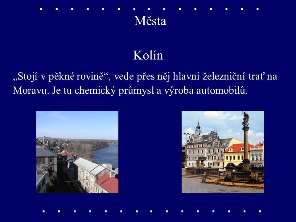 Města Poděbrady Jsou to známé lázně, kde se léčí hlavně srdeční choroby. Náměstí zdobí socha Jiřího z Poděbrad. Je zde sklářský průmysl.