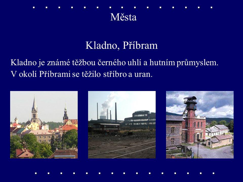 Města Kutná Hora Ve středověku bývala nejbohatším městem v Čechách. Těžilo se tu stříbro, ze kterého čeští králové nechávali razit peníze.
