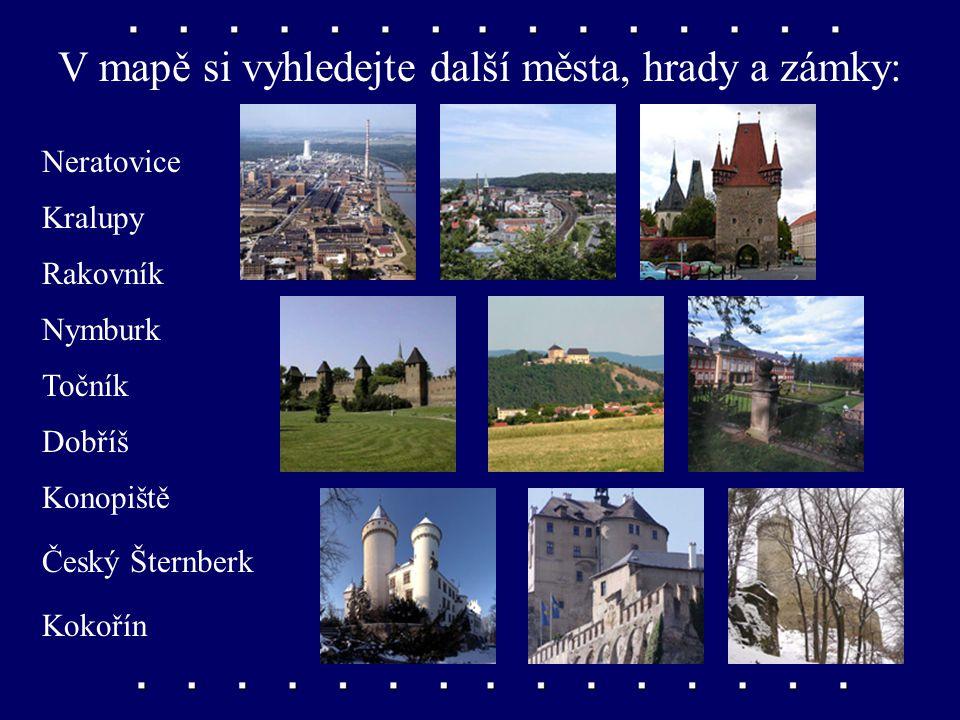 Památky Křivoklát, Karlštejn Dva nejznámější české hrady. Křivoklát byl oblíbeným místem odpočinku panovníků, Karlštejn dal vystavět Karel IV.