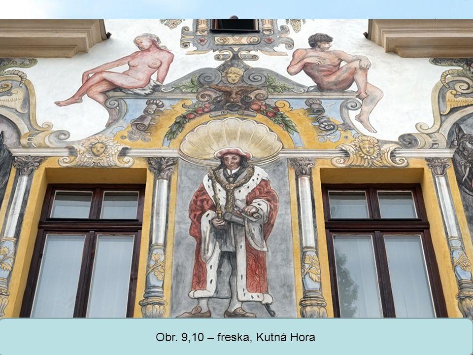 Střední škola Oselce Obr. 9,10 – freska, Kutná Hora
