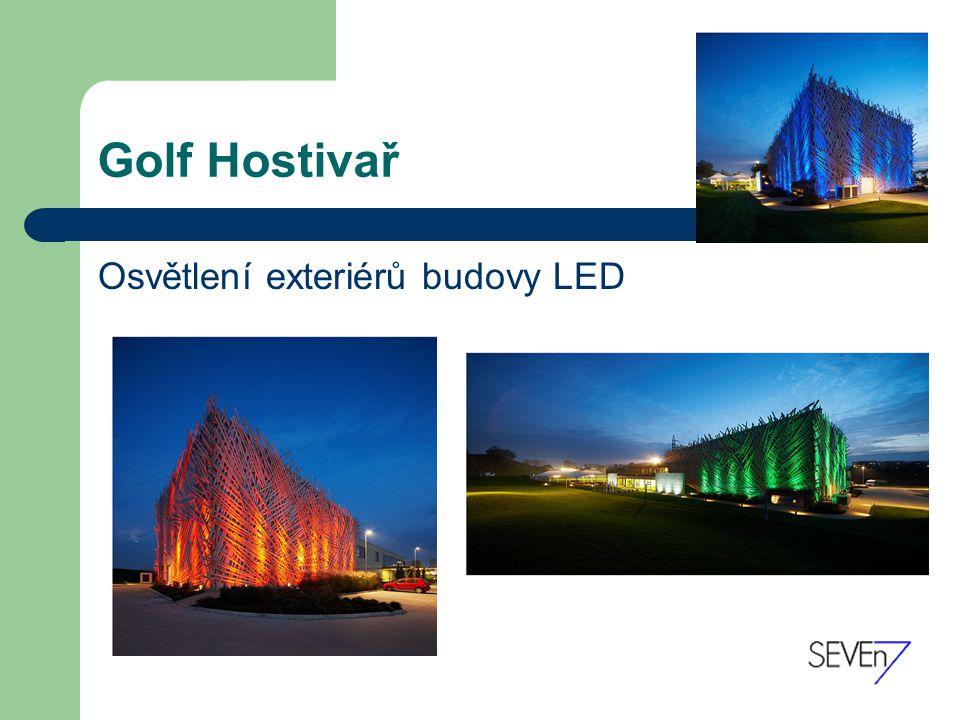 Golf Hostivař Osvětlení exteriérů budovy LED