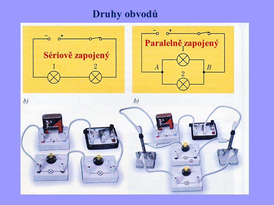 Otázky 1.Jaké podmínky musí být splněny, aby obvodem procházel elektrický proud (2).