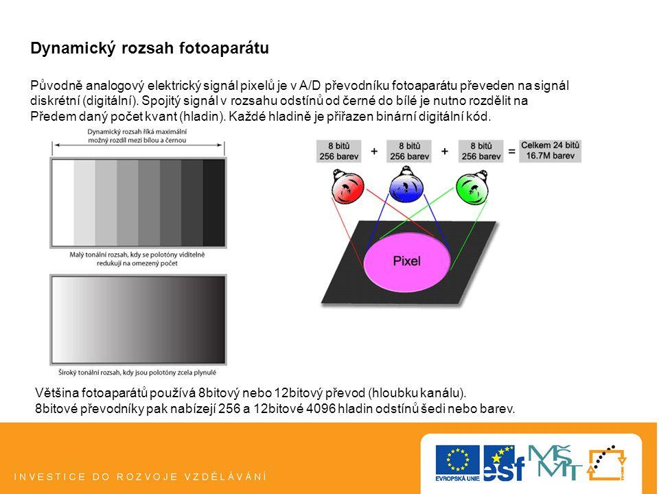 Expoziční strategie pro standardní fotografování 1.