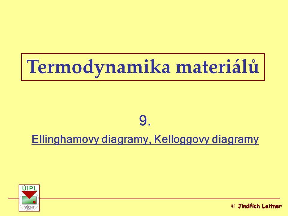 Termodynamika materiálů 9. Ellinghamovy diagramy, Kelloggovy diagramy Jindřich Leitner  Jindřich Leitner