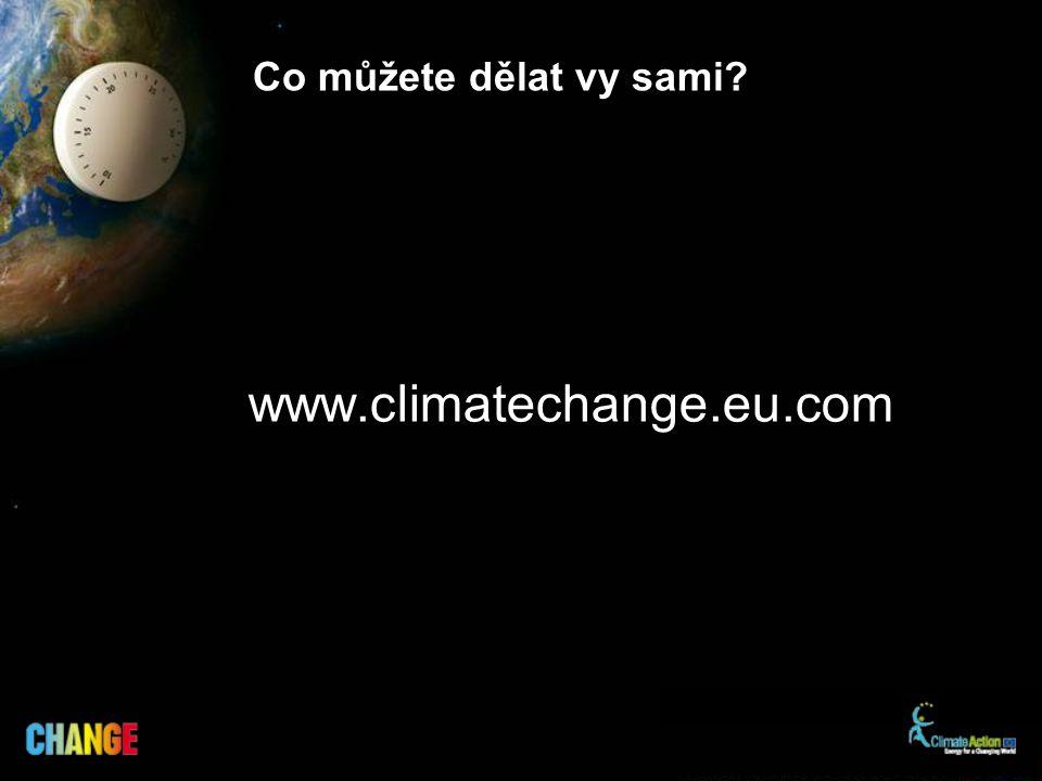Co můžete dělat vy sami www.climatechange.eu.com