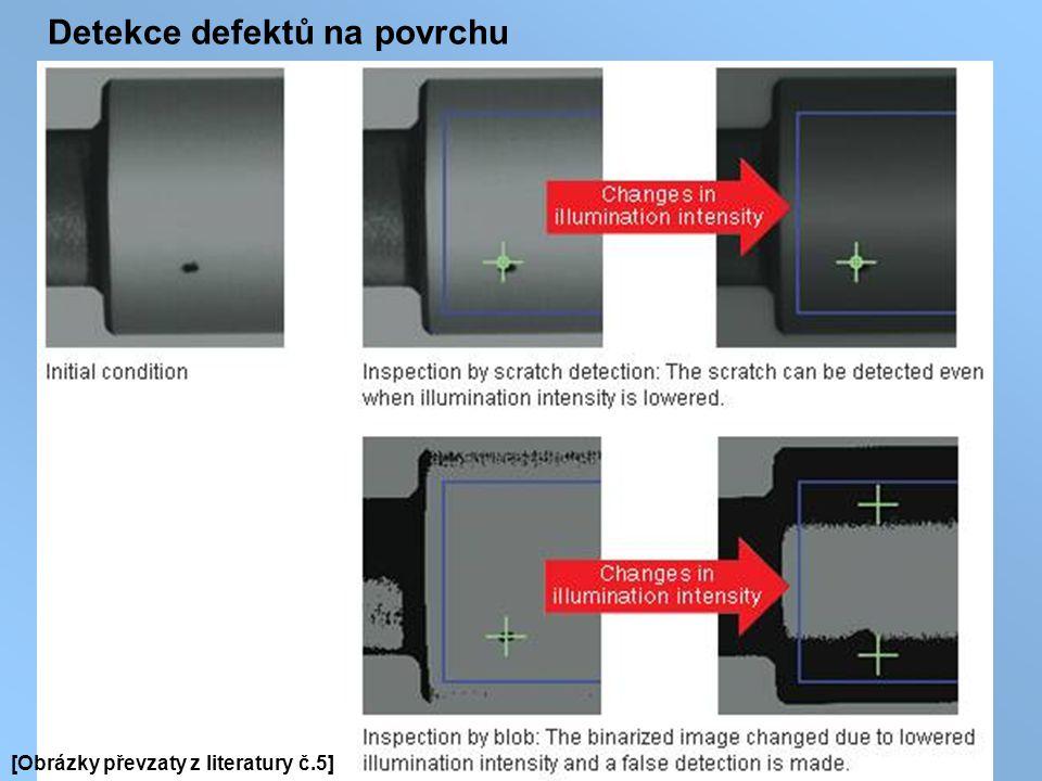 Detekce defektů na povrchu [Obrázky převzaty z literatury č.5]