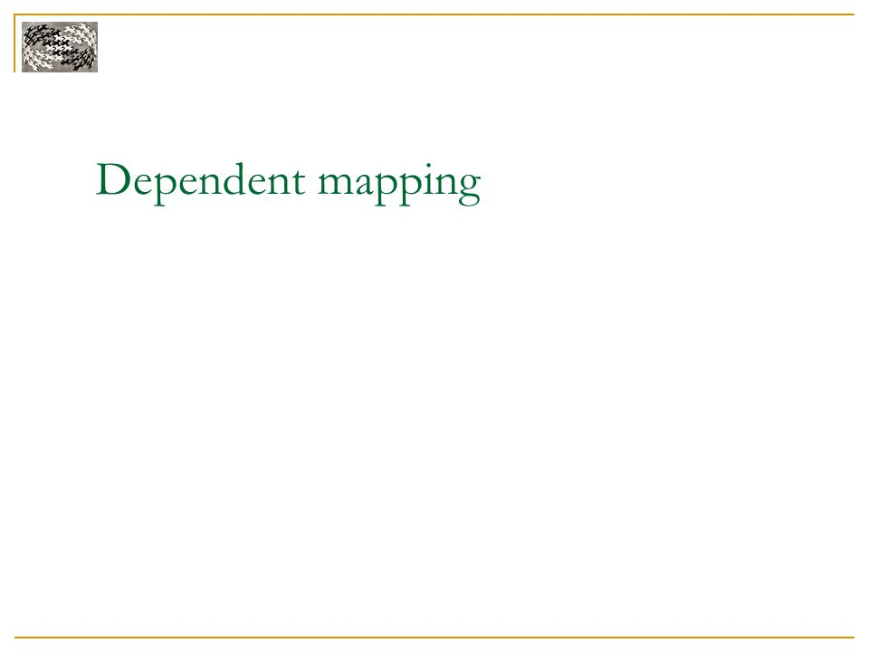 Dependent mapping
