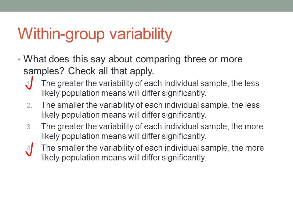 What does this say about comparing three or more samples.