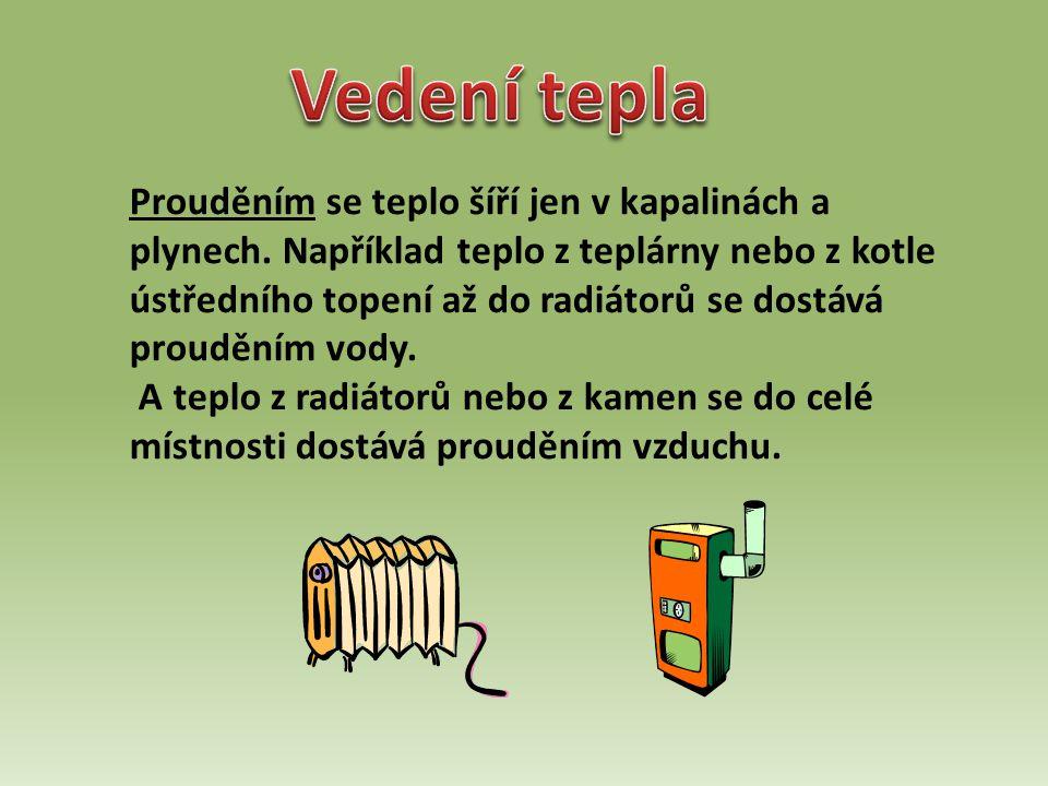 Zářením se teplo šíří ve vakuu a v průhledných prostředích, například ve vzduchu a ve skle.