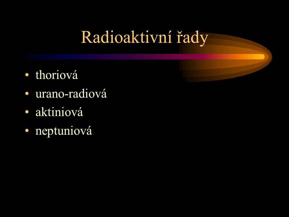 Radioaktivní řady thoriová urano-radiová aktiniová neptuniová