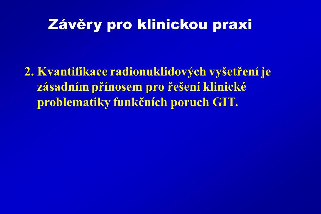 Závěry pro klinickou praxi 2.