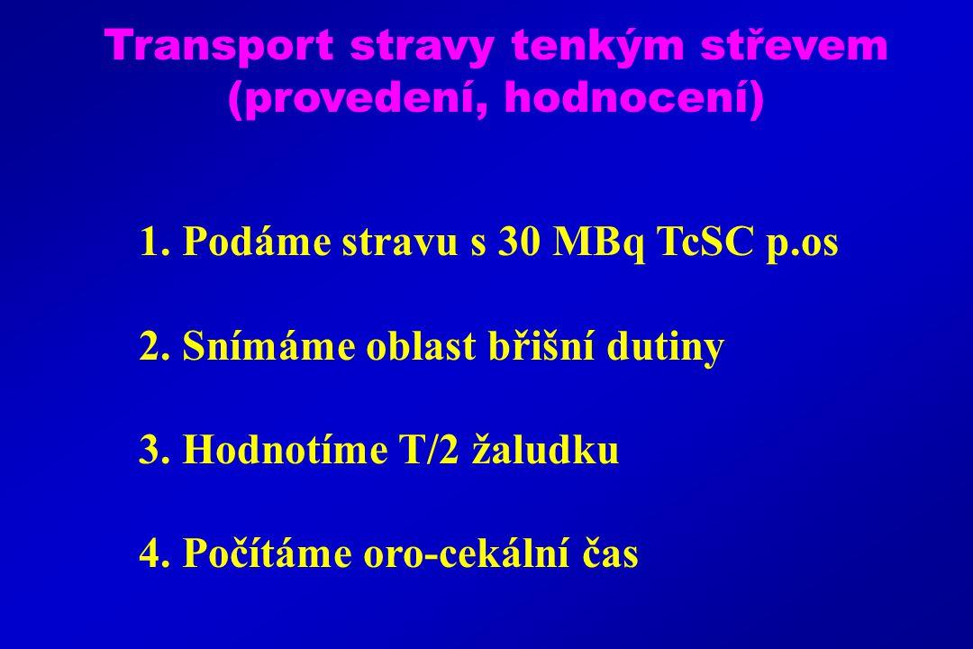 Transport stravy tenkým střevem (provedení, hodnocení) 1.