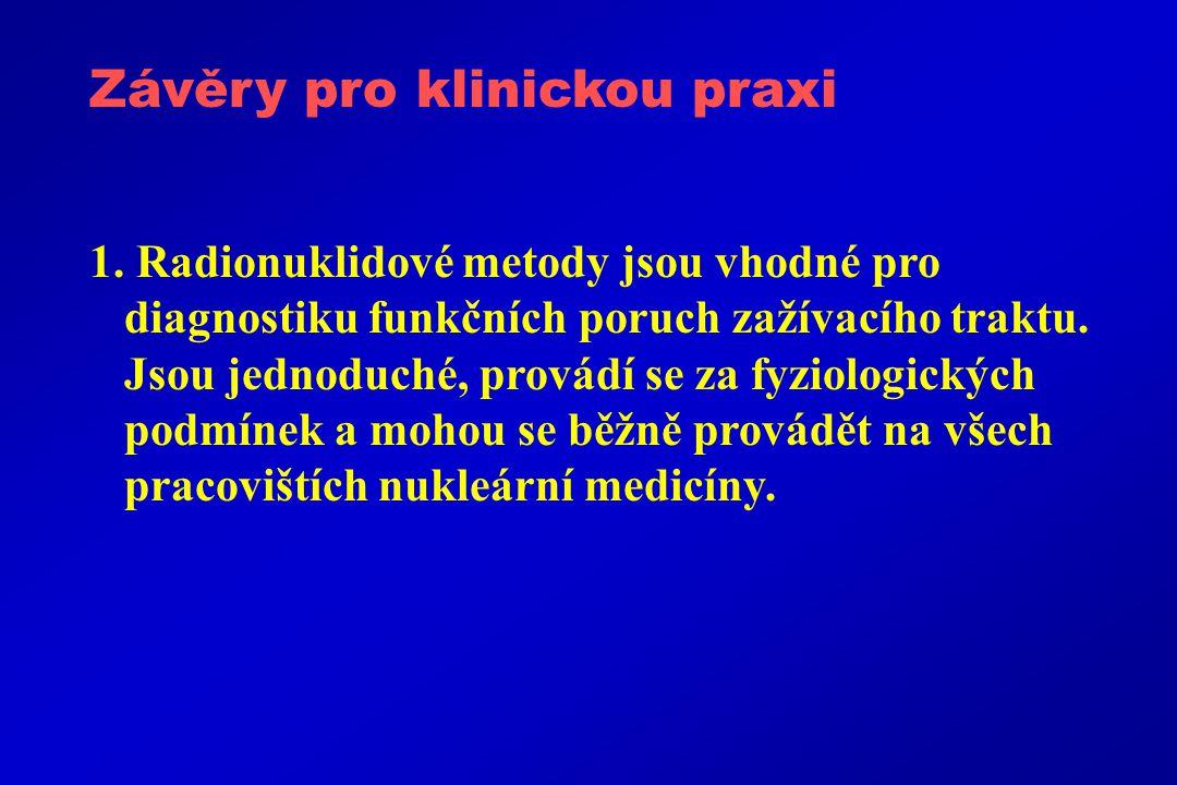 Závěry pro klinickou praxi 1.