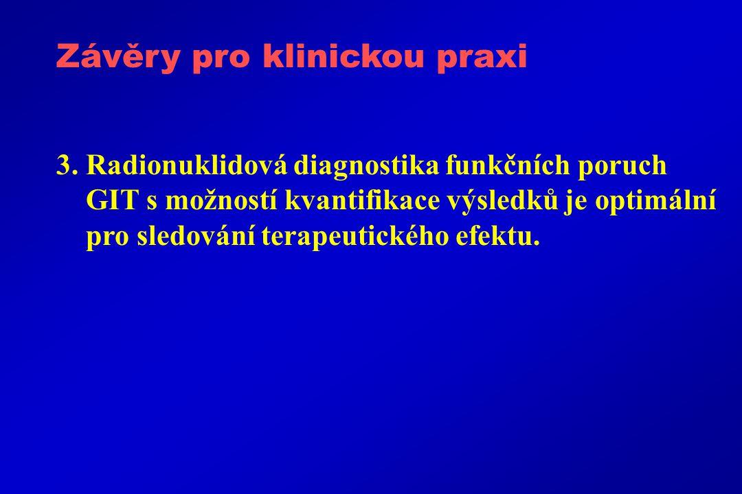 Závěry pro klinickou praxi 3.