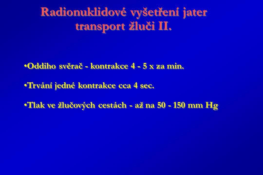 Radionuklidové vyšetření jater transport žluči II.
