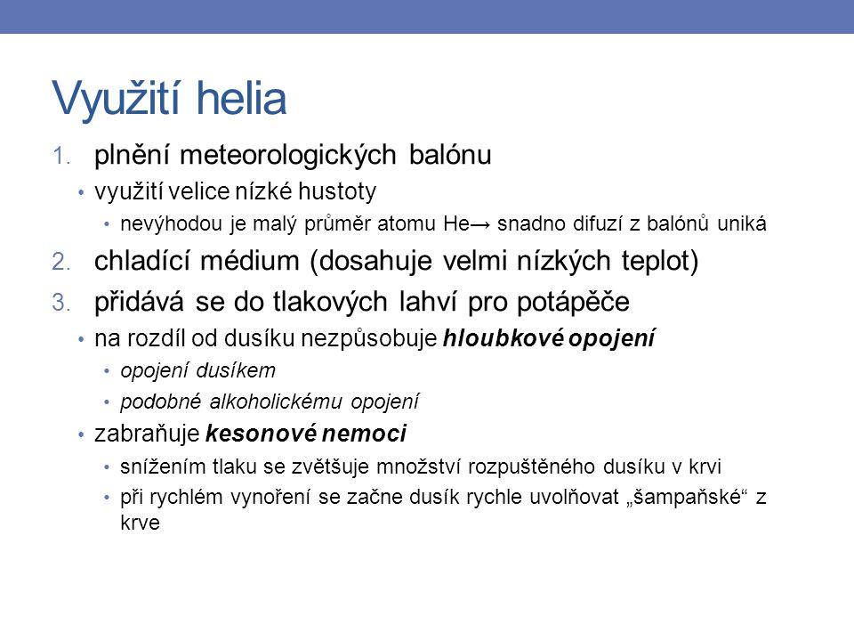 Využití helia 1.