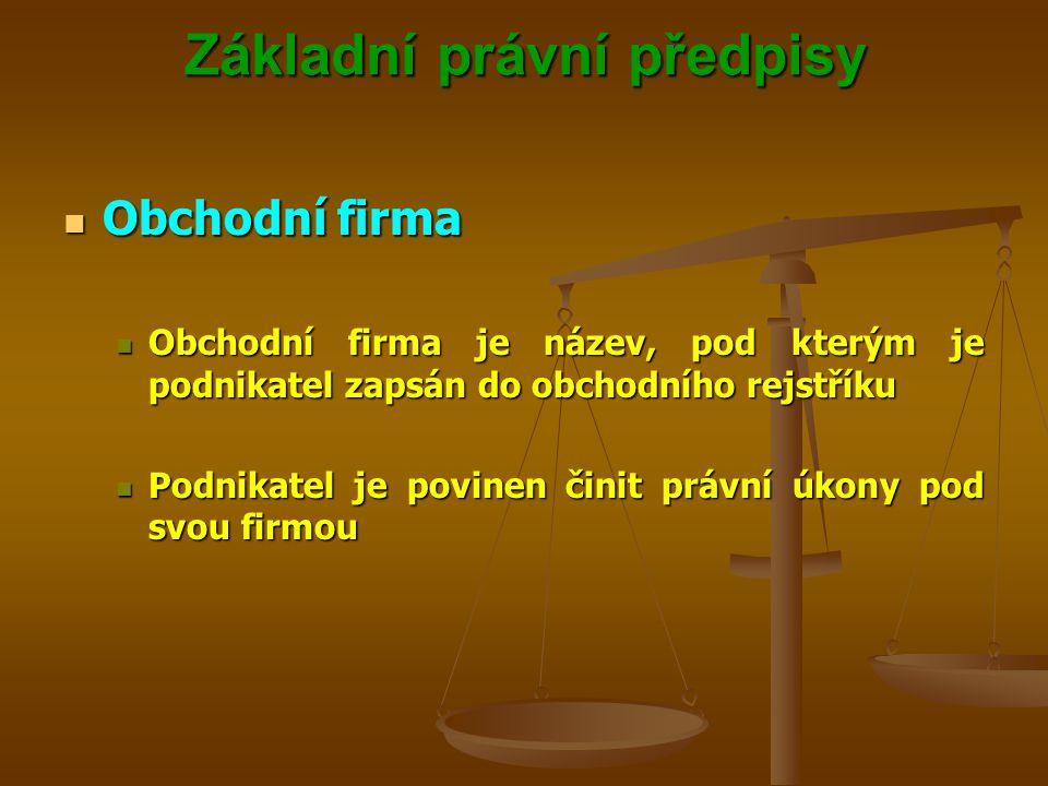 Základní právní předpisy Účastníci občanskoprávních vztahů Účastníci občanskoprávních vztahů Fyzické osoby Fyzické osoby Podmínkou Podmínkou Způsobilost k právům a povinnostem Způsobilost k právům a povinnostem Způsobilost k právním úkonům Způsobilost k právním úkonům