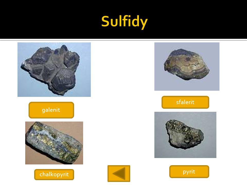 galenit chalkopyrit sfalerit pyrit