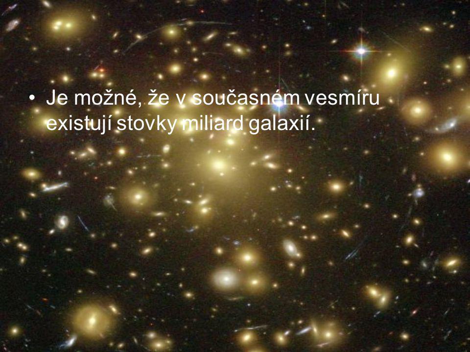 Musíme Musíme si uvědomit, že když pozorujeme vzdálené galaxie, díváme se ve skutečnosti do dávné minulosti.