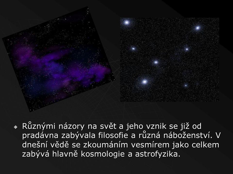  Vesmír je označení pro veškerý (časo-)prostor a hmotu a energii v něm. V užším smyslu se vesmír také někdy užívá jako označení pro kosmický prostor,
