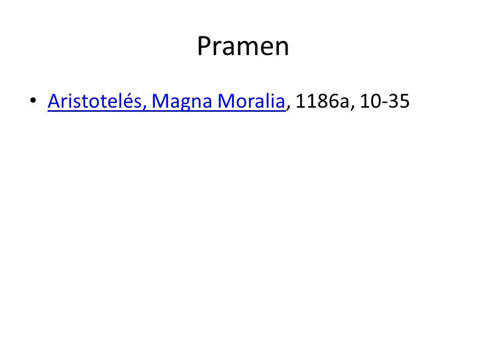 Pramen Aristotelés, Magna Moralia, 1186a, 10-35 Aristotelés, Magna Moralia
