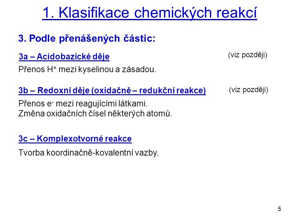 5 1.Klasifikace chemických reakcí 3.