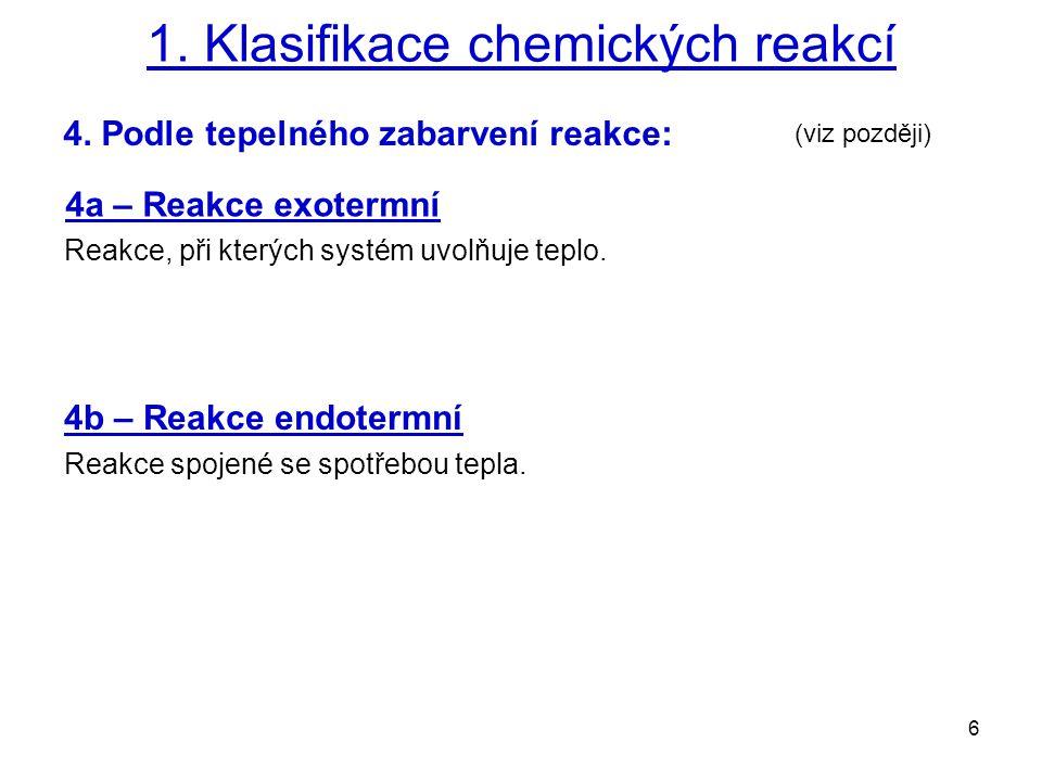 6 1.Klasifikace chemických reakcí 4.