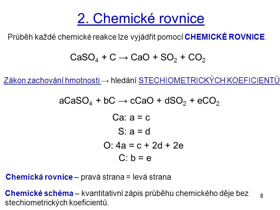 9 3. Výpočty z chemických rovnic