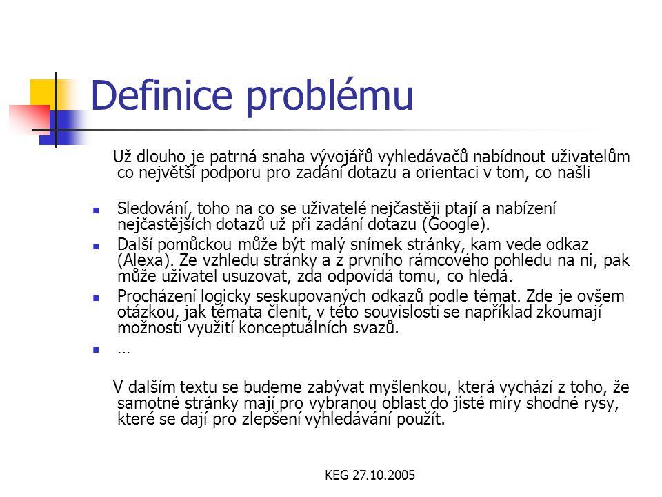 KEG 27.10.2005 Návrhové vzory – uživatelské rozhraní Podobně jako u řady dalších inženýrských termínů neexistuje žádná přesná definice tohoto pojmu.