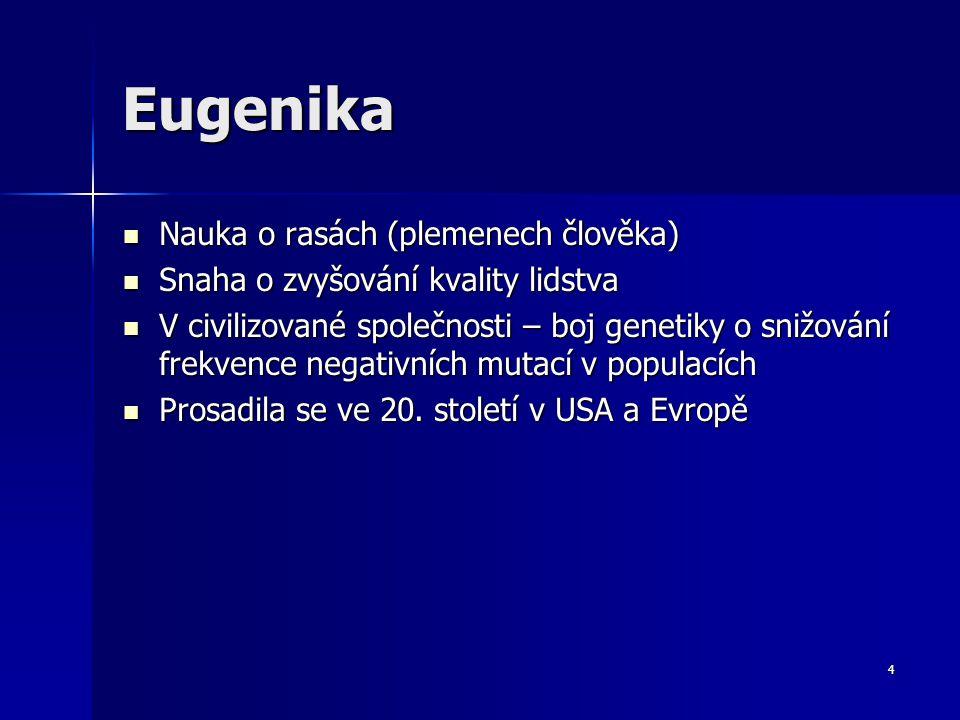 Genetika člověka Eugenika