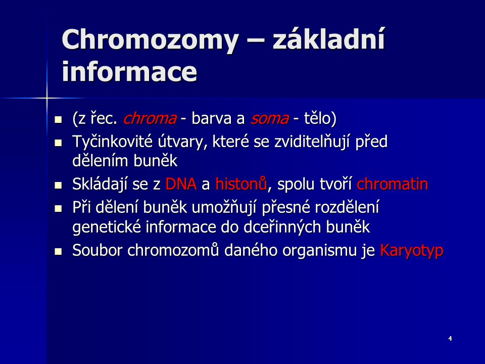 Chromozomy Množiny genů 3