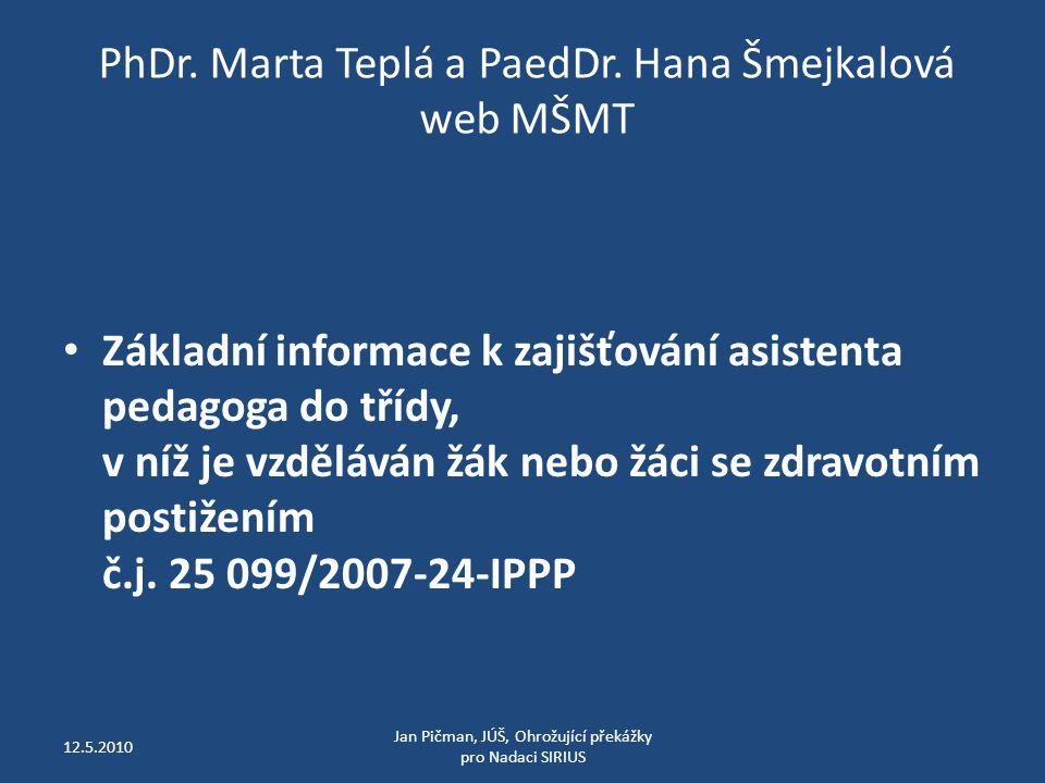 PhDr. Marta Teplá a PaedDr.
