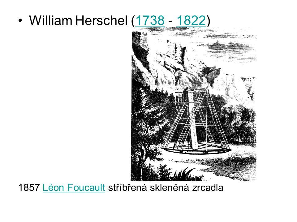 William Herschel (1738 - 1822)17381822 1857 Léon Foucault stříbřená skleněná zrcadlaLéon Foucault