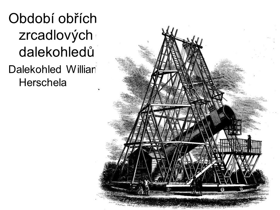 Období obřích zrcadlových dalekohledů Dalekohled Williama Herschela