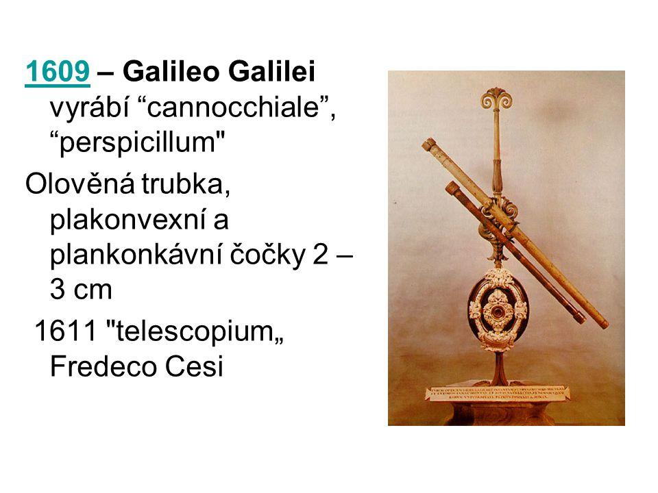 "16091609 – Galileo Galilei vyrábí ""cannocchiale"", ""perspicillum"